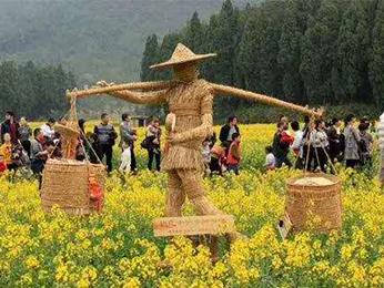 绿雕与稻草人